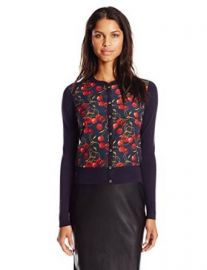 Amazoncom Ted Baker Womenand39s Perl Cheerful Cherry Print Cardigan Clothing at Amazon