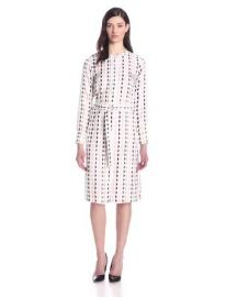 Amazoncom Theory Womenand39s Linigole Diamond-Print Shirtdress Clothing at Amazon