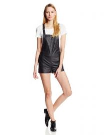 Amazoncom Townsen Womenand39s Rookie Vegan Leather Overall Romper Clothing at Amazon
