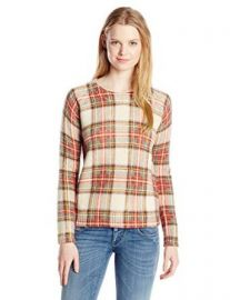 Amazoncom Townsen Womenand39s Sleigh Plaid Sweater Clothing at Amazon