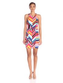 Amazoncom Trina Trina Turk Womenand39s Amaya Geo Chevron Printed Sleeveless Dress Multi Medium Clothing at Amazon