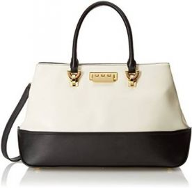 Amazoncom ZAC Zac Posen Eartha Envelope Carryall Top Handle Bag BlackWhite One Size Shoes at Amazon