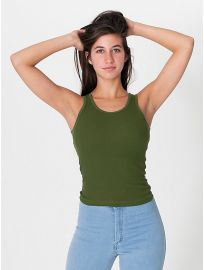 American Apparel 2x1 Rib U-Neck Tank at American Apparel