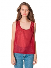 American Apparel Big Mesh Tank in Cardinal at Amazon