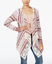 American Rag Crocheted Handkerchief-Hem Cardigan  Only at Macy s at Macys
