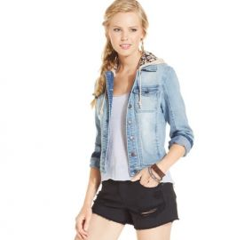 American Rag Denim Jacket Detachable Hood at Macys