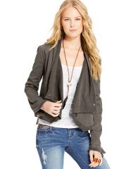 American Rag Draped Jacket - Juniors - Macys in olive at Macys