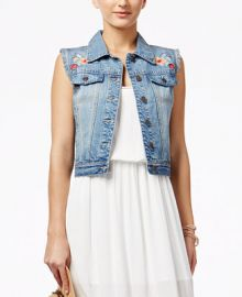 American Rag Embroidered Denim Vest  Only at Macy s at Macys