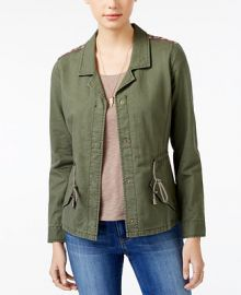American Rag Embroidered Utility Jacket  Only at Macy s at Macys