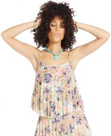 American Rag Floral-Print Pleated Top at Macys