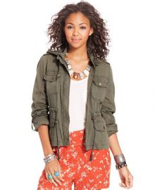American Rag Hooded Cargo Jacket - Juniors Jackets and Vests - Macys at Macys