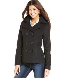 American Rag Hooded Peacoat - Juniors Jackets and Coats - Macys at Macys