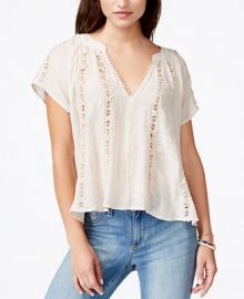American Rag Juniors Crochet Peasant Blouse Only at Macys at Macys