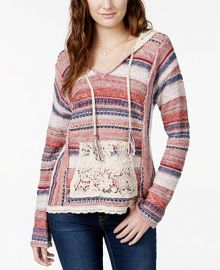 American Rag Lace Hooded Sweater at Macys
