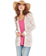 American Rag Long-Sleeve Marled-Knit Cardigan - Juniors Sweaters - Macys at Macys