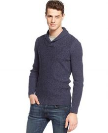American Rag Marled Shawl-Collar Sweater at Macys