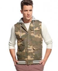 American Rag Vest Camo Hoodie Vest - Coats and Jackets - Men - Macys at Macys