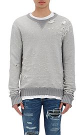 Amiri Distressed Shotgun Sweatshirt at Barneys