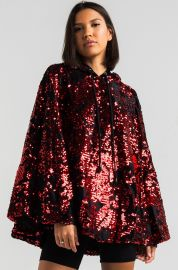 Ammo Light Parade Sequin Hooded Poncho at Shop Akira