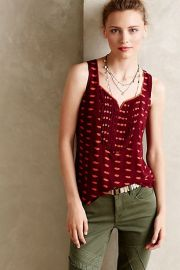 Amory Tank in Red at Anthropologie