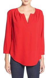Amour Vertand160and39Madisonand39 Split Neck Silkand160Blouse at Nordstrom