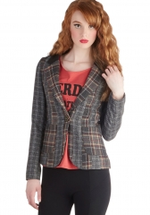 An Edge Above the Class Blazer at ModCloth