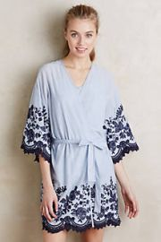 Anastasia Embroidered Robe at Anthropologie