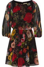 Andie gathered floral-print crepe mini dress at The Outnet
