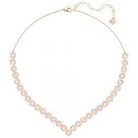 Angelic Square Necklace and Earrings in Rose Gold at Swarovski