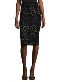 Ani Multicolor Pointelle Pencil Skirt by Alice   Olivia at Gilt at Gilt