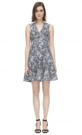 Animal Jacquard Dress at Rebecca Taylor