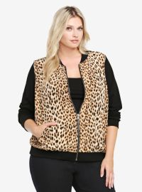 Animal Print Bomber at Torrid
