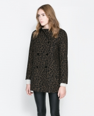 Animal Print Coat at Zara