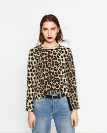 Animal Print Top at Zara