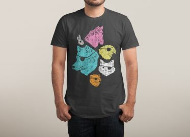 Animals with eyepatches tee at Threadless