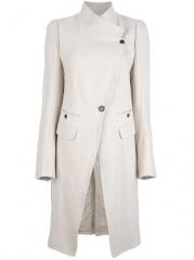 Ann Demeulemeester Blanche Structured Asymmetric Coat - at Farfetch