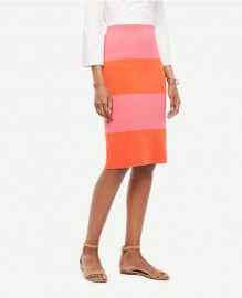 Ann Taylor Colorblock Stripe Sweater Skirt at Ann Taylor