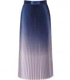 Anna Metallic Ombre Pleated Midi Skirt at Reiss