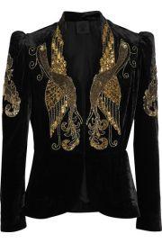 Anna Sui   Phoenix embellished velvet jacket at Net A Porter