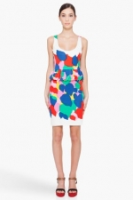 AnnaBeths rainbow Marc Jacobs dress at Ssense