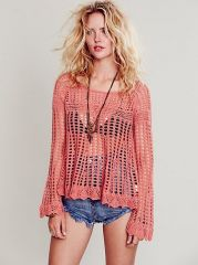 Annabelle Crochet Pullover at Free People