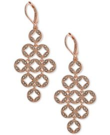 Anne Klein Pave Chandelier Earrings at Macys