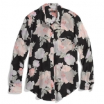 Anns black floral blouse at Madewell