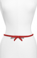 Another Line Faux Leather Belt in red at Nordstrom