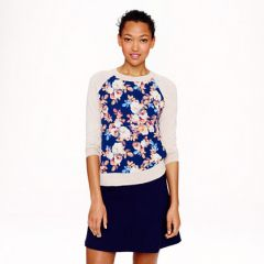Antique Floral Sweater at J. Crew
