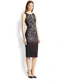 Antonio Berardi - Blocked Metallic-Print Dress at Saks Fifth Avenue