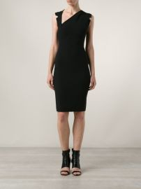 Antonio Berardi Asymmetric Neckline Dress at Farfetch