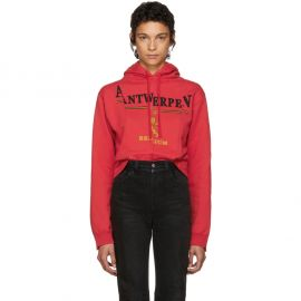 Antwerp Fitted Cut Up Hoodie by Vetements at SSENSE