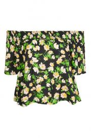 Apple blossom smock bardot top at Topshop