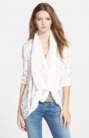 Aprand232s Ramy Brook and39Lennyand39 Drape Neck Cardigan at Nordstrom
